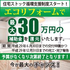 エコリフォームで補助金「最大30万円」